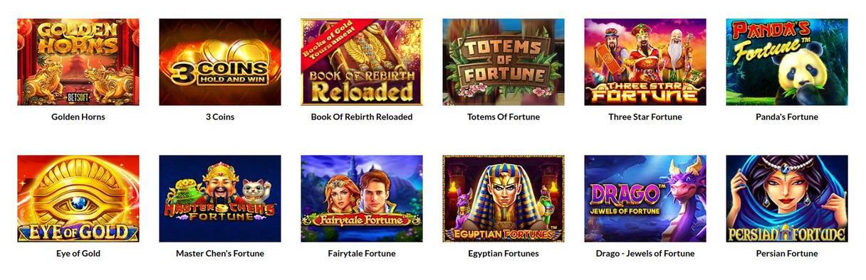 Casino Superlines spiludvalg