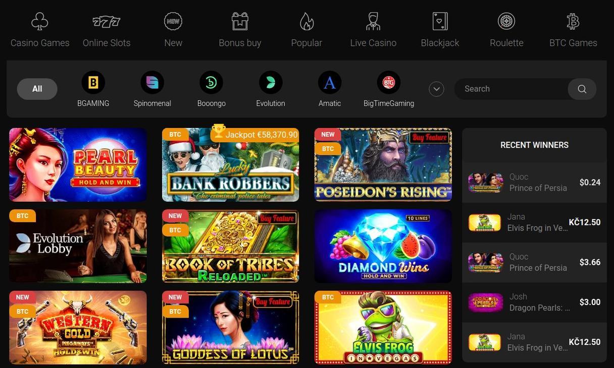 Casinochan spiludvalg