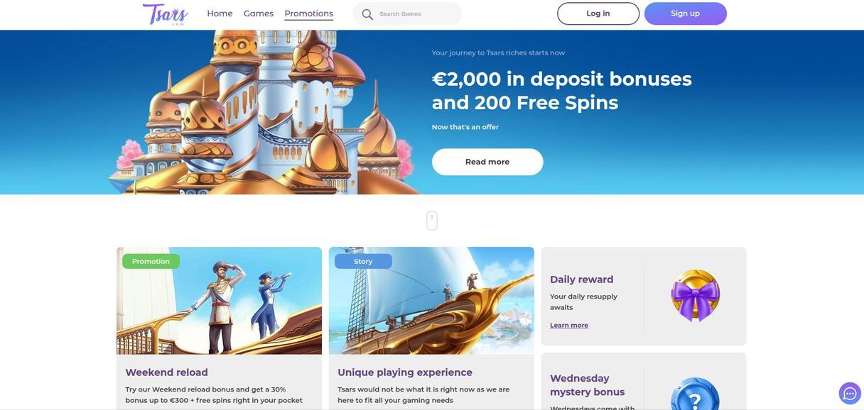 Tsars Casino bonus