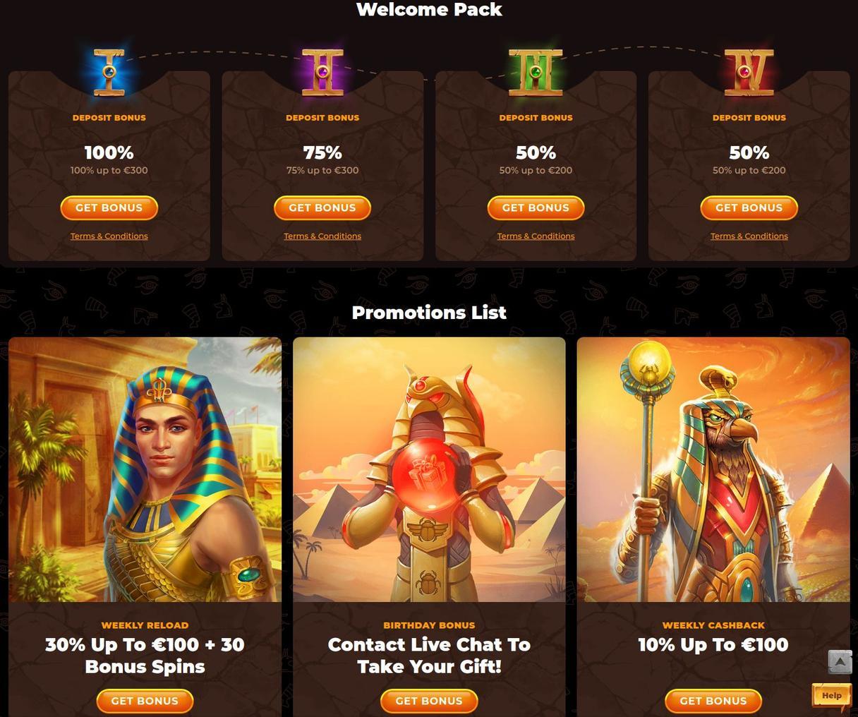 Amun Ra Casino velkomstbonus