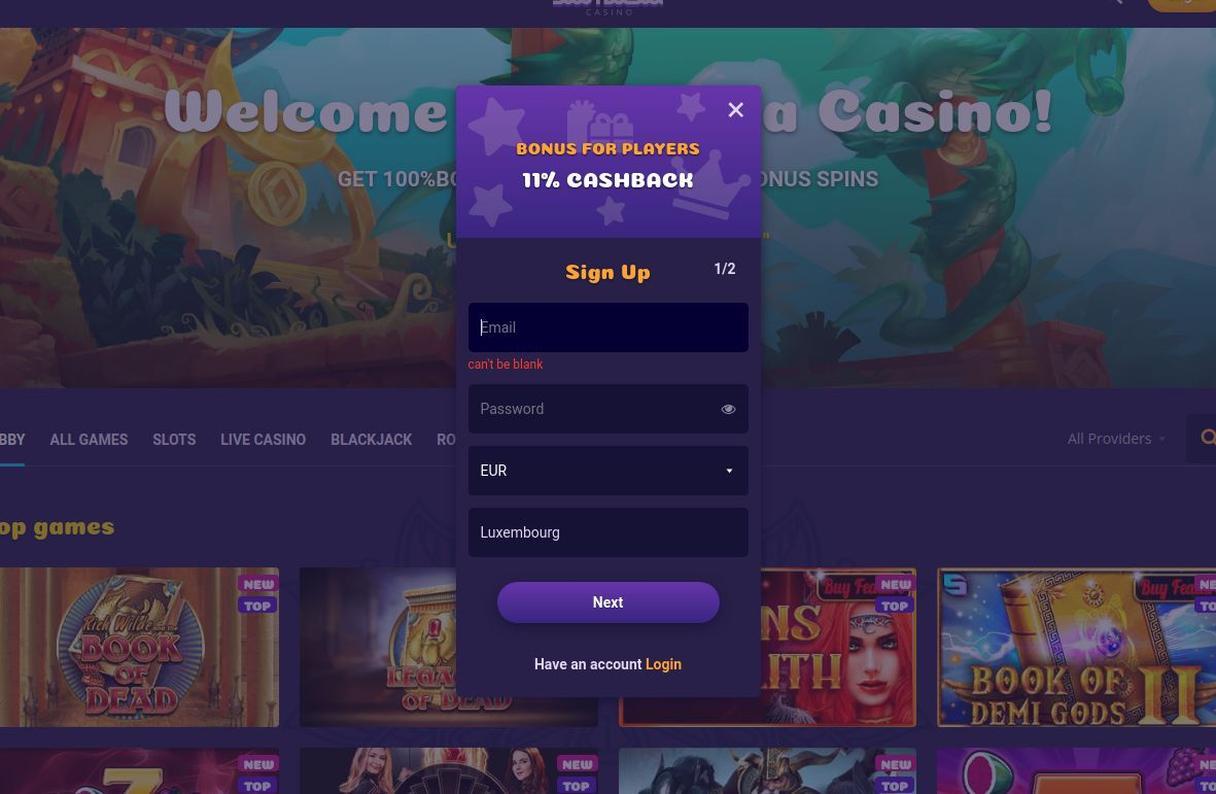 Sådan opretter du en Samosa Casino konto