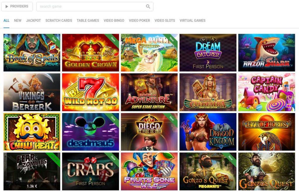 Vegaz Casino Spiludvalg