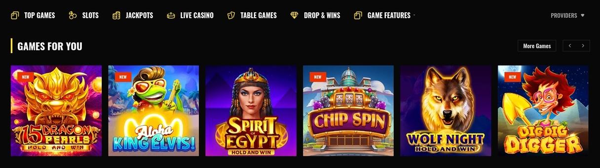 Fight Club Casino games