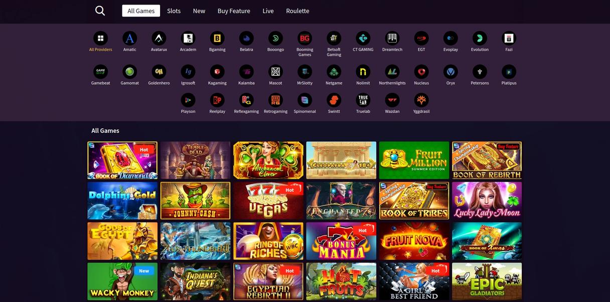 WildBlaster Casino Spil